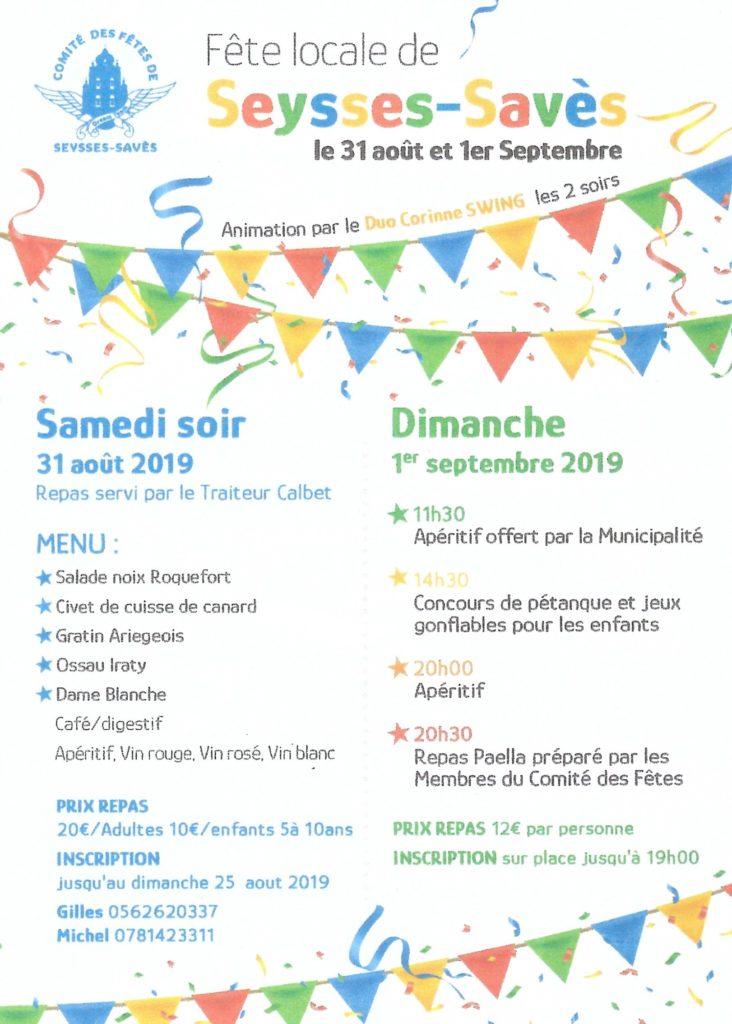 Affiche fête Seysses-Savès